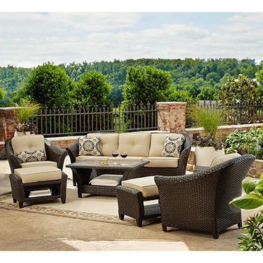 Toronto 6 piece outdoor deep seating set sam 39 s club for Outdoor furniture toronto