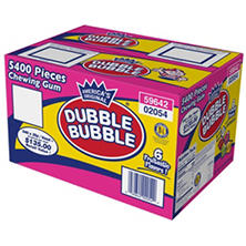 Dubble Bubble Tab Chewing Gum - 5400 ct.