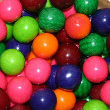 Dubble Bubble 6 Flavor Fruit Mix Gumballs - 23mm - 1,080 ct.
