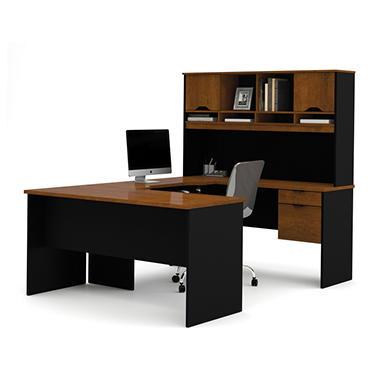 Bestar Innova HomePro U Shaped Desk Tuscany Brown