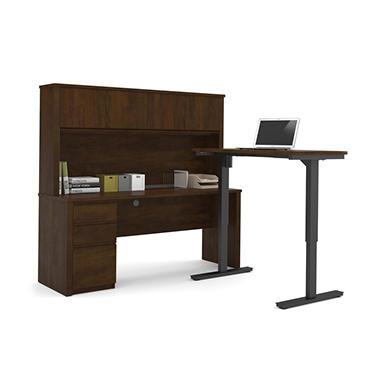 Bestar Prestige Officepro 99000 L Shaped Desk With Hutch