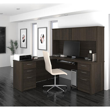 Bestar Embassy Officepro 60000 71 Quot 2 Drawer L Shaped Desk
