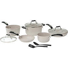 The Rock by Starfrit 10-piece Cookware Set With Bakelite Handles (Sand)