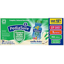 PediaSure Vanilla with Fiber Shake 8 oz. bottles (24 pk.)