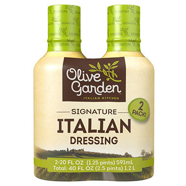 Olive garden signature italian dressing 20 oz bottle 2 ct sam 39 s club for Olive garden salad dressing ingredients