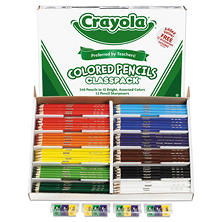 Crayola® Colored Woodcase Pencil Classpack, 3.3mm, 20 EA of 12 Ast Colors + 12 Sharpeners