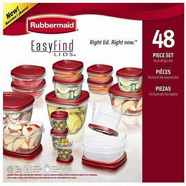 Rubbermaid EasyFind Lids™ Food Storage Set -48pc - Sam's Club