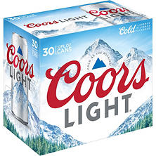Coors Light Beer (12 fl. oz. can, 30 pk.)