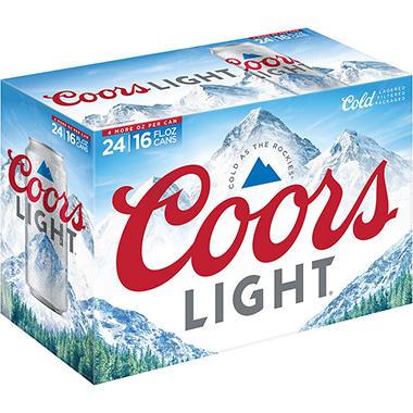 Coors Light Beer 16 Fl Oz Can 24 Pk Sam S Club