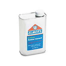 Elmer's - Rubber Cement - Repositionable - 1 qt.