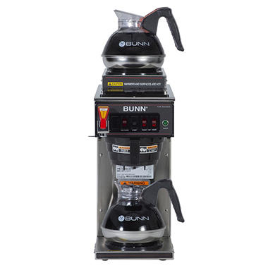 Bunn 174 Cwtf 15 12 Cup Automatic Coffee Maker With 3 Warmers