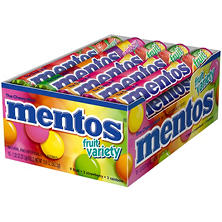 Mentos Fruit Variety  (1.32 oz. rolls, 15 ct.)