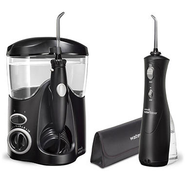waterpik ultra water flosser combo black sam 39 s club. Black Bedroom Furniture Sets. Home Design Ideas