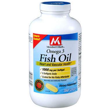 Member 39 s mark omega 3 fish oil 1000mg 350ct sam 39 s club for Sam s club fish oil