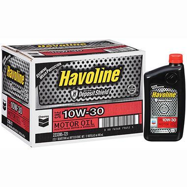 Chevron havoline w deposit shield 10w30 motor oil 1 for Is havoline motor oil good