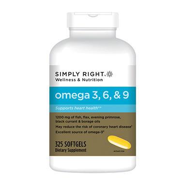 Simply right omega 369 325 ct sam 39 s club for Sam s club fish oil