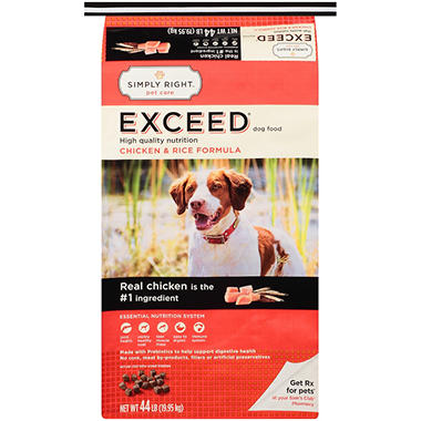 Simply Right Exceed Dog Food Reviews