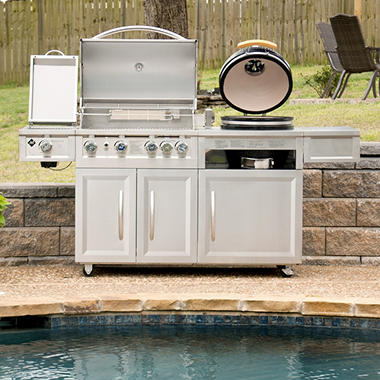 Members Mark Gas amp Kamado Combo Grill Sams Club