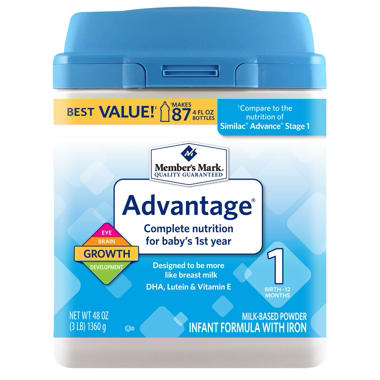 Best Er Member S Mark Infant Formula Advantage 48