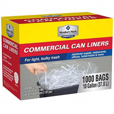 member 39 s mark 7 10 gallon commercial trash bags 1000 ct sam 39 s club. Black Bedroom Furniture Sets. Home Design Ideas