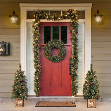 5 piece pre lit holiday entryway set sam 39 s club for Garage comos sauvian occasion