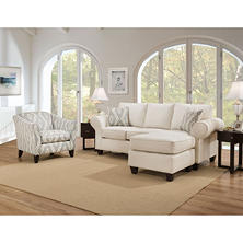Members Mark Hale Sofa Chaise and Accent Chair Collection, Cream