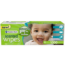Member's Mark Scented Baby Wipes (1000 ct.)