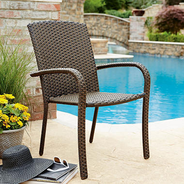 Member 39 S Mark Heritage Woven Stacking Chair 4 Pk Sam 39 S Club