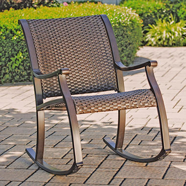 Member s Mark Agio Collection Heritage Woven Rocking Chair