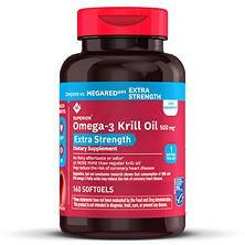 Members Mark Extra Strength 100% Pure Omega-3 Krill Oil, 500mg (160 ct.)