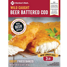 Member's Mark Beer Battered Cod (3 lbs.)