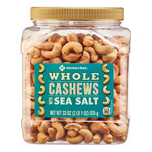 Member's Mark Roasted Whole Cashews with Sea Salt ( 33 oz.)