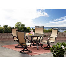 Miller's Creek Dining Set with Sling Rockers, 5-Piece Set