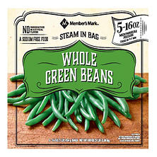 Member's Mark Whole Green Beans (16 oz. pouches, 5 pack)