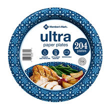 "Member's Mark Ultra 10"" Printed Paper Plates, 204 ct."