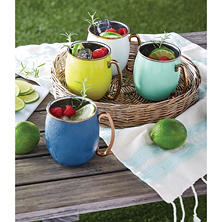 Member's Mark Colorful Moscow Mule Mugs, 4 Pack (Assorted Colors)