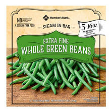Member's Mark Extra Fine Whole Green Beans (16 oz. bags, 5 count)