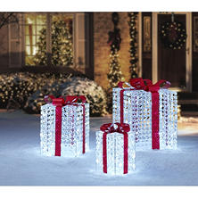 Member's Mark Set Of 3 Crystal Bead Gift Boxes