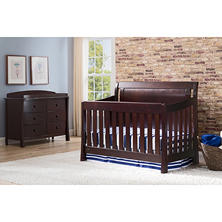 Simmons Kids Madisson 3-Piece Nursery Set, Black Espresso