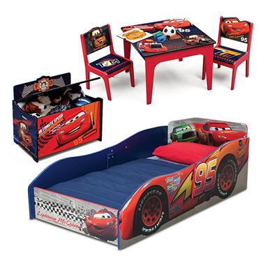 Delta Children Cars 3 Piece Deluxe Toddler Bedroom Set