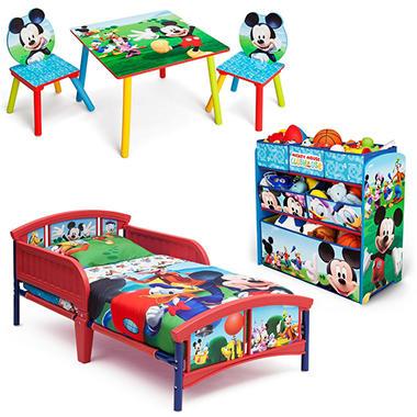 Delta Children Mickey Mouse 3 Piece Toddler Bedroom Set Sam 39 S Club