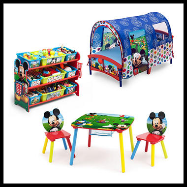 Delta Children Mickey Mouse 3 Piece Toddler Tent Bedroom