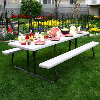 Lifetime Commercial 8 Picnic Table Putty Sam S Club