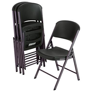Offline Lifetime Commercial Grade Folding Chair Black