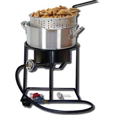 King kooker portable propane outdoor fish fryer package for Fish cooker burner