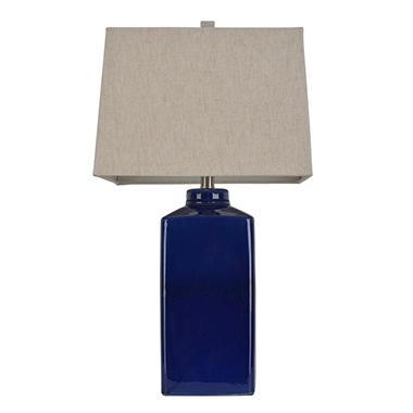 Jimco Lamp Square Ceramic Table Lamp, Rich Blue - Sam's Club