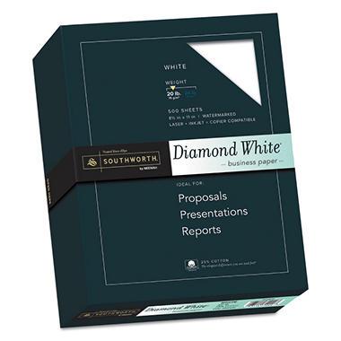 Southworth Diamond White Fine Paper 20lb White Ream