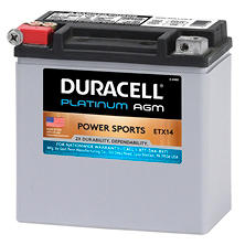 Duracell AGM Powersport Battery - ETX14