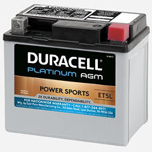 Duracell AGM Powersport Battery - ET5L