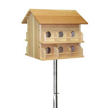 15' Telescoping Purple Martin House Pole Kit with Deluxe Cedar House